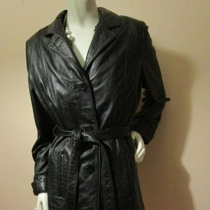 Wilson's Leather Black Jacket w/Removable Lining
